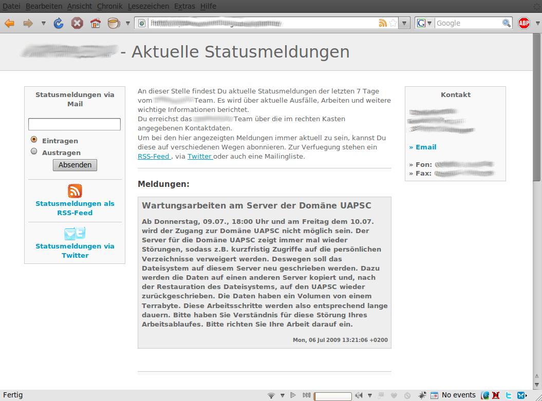 statusseite