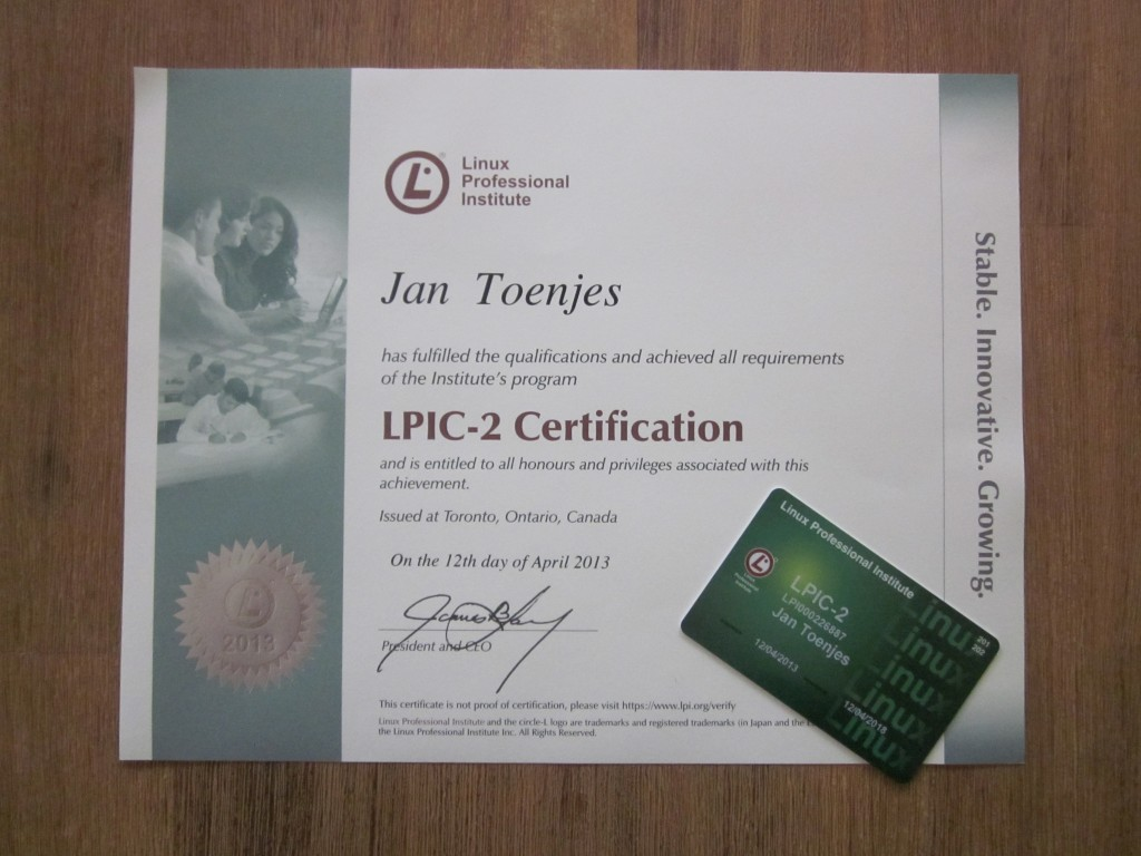 LPIC-2 Zertifikat